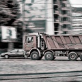 red truck 2015 01 as hdr bw graphic novel