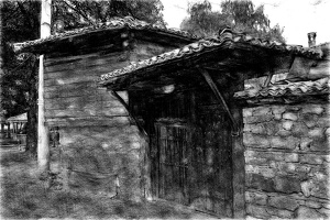 koprivshtitsa 2020.23 as sketch bw